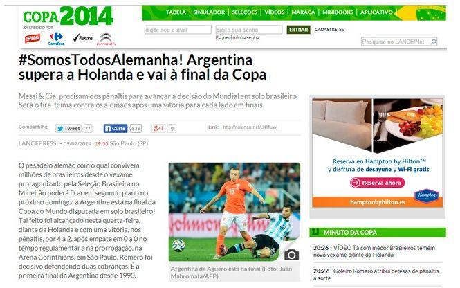 Curiosa campaña en Brasil a favor de Alemania