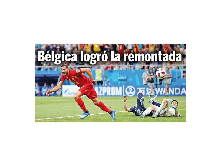 Agónico.Nacer Chadli festeja el gol que deja a Bélgica en cuartos. Los japoneses
