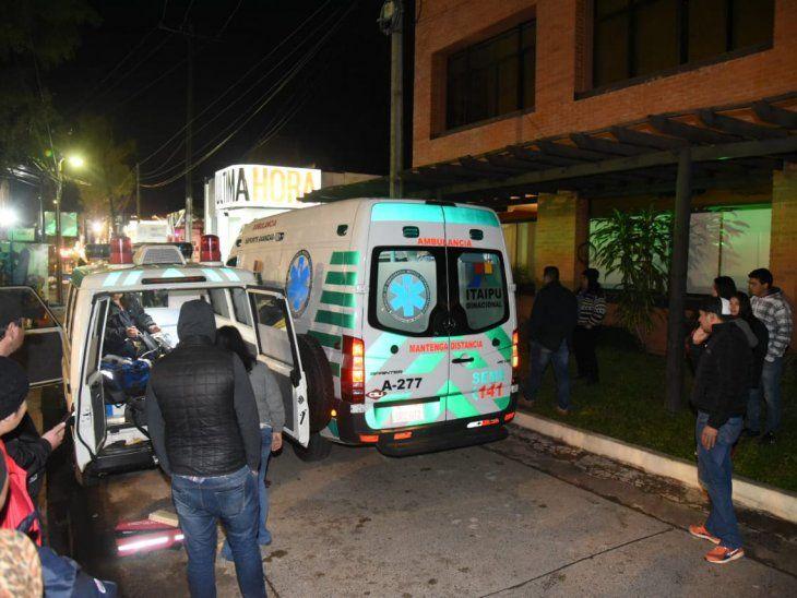 El pequeño tuvo que ser derivado hasta el Hospital de Mariano Roque Alonso.