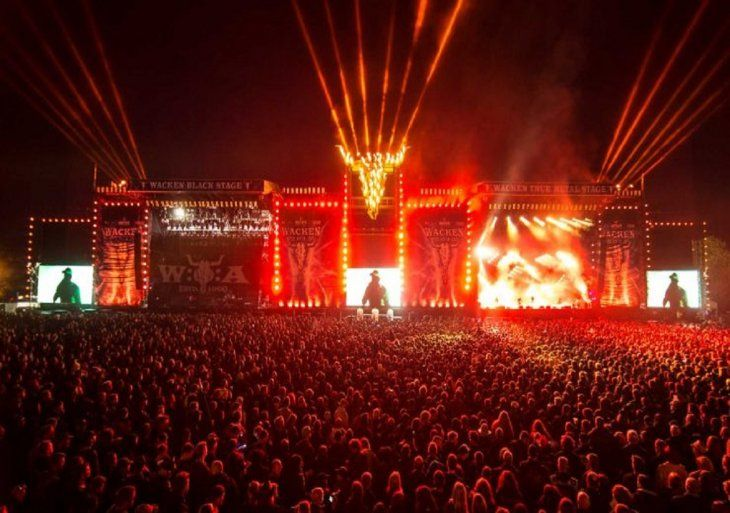 El Wacken Open Air es uno de los eventos mas grandes de rock y metal en Alemania.