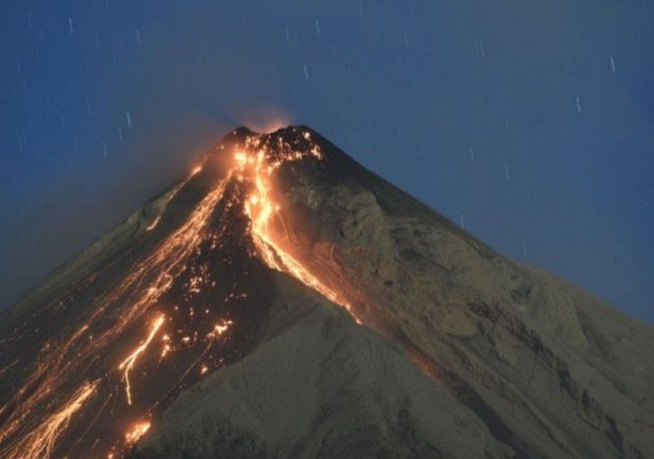 El volcán
