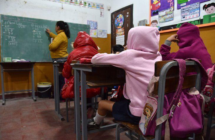 Las clases no se suspenden por frío