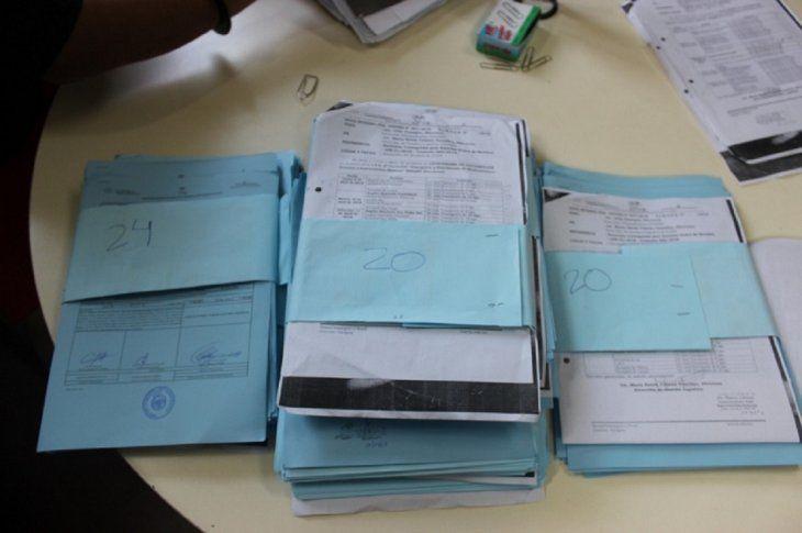 Las órdenes de compra encontradas en poder de los funcionario del Ministerio de Salud.