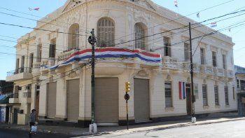 Sede.  Oficina central de la Secretaría Nacional de Cultura sobre EEUU y Mariscal Estigarribia.