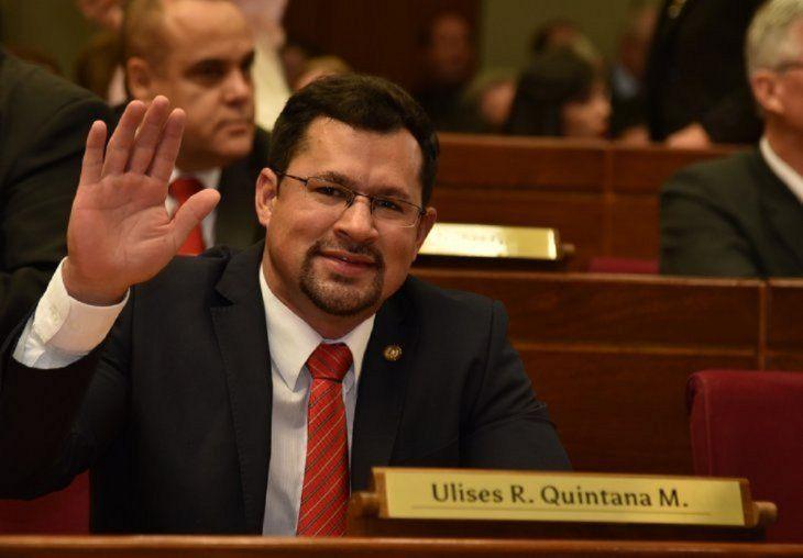 <p>El diputado Ulises Quintana está actualmente preso en el penal militar de Viñas Cué.</p>