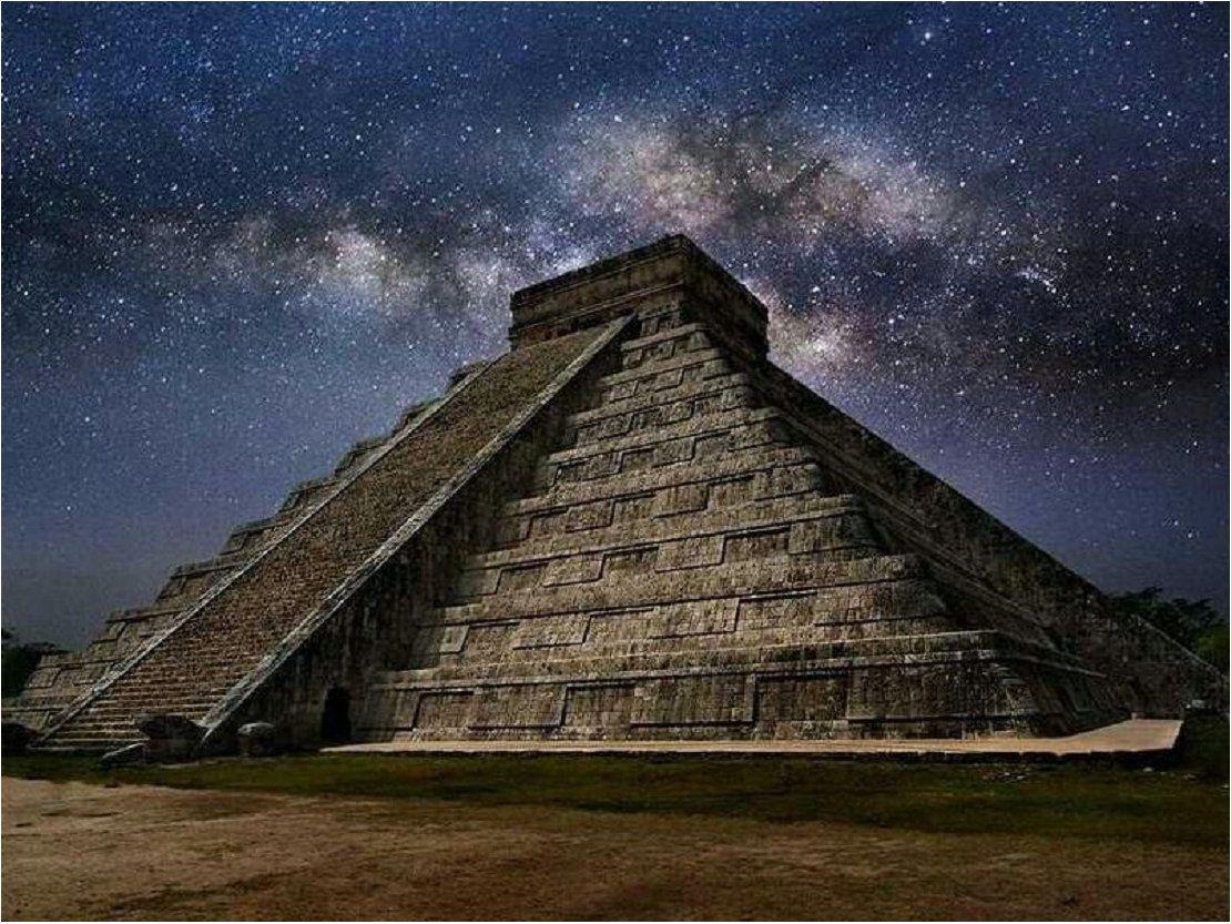 mayan sacrifice pyramid