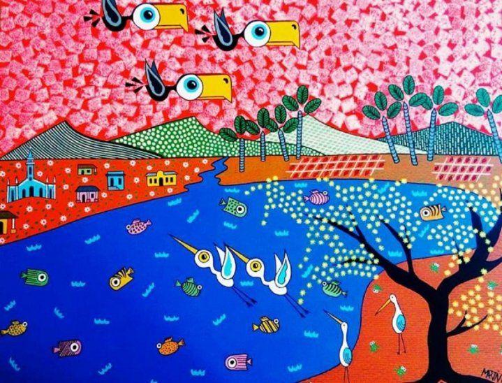 Colorida. Pintura de Martín Spinzi