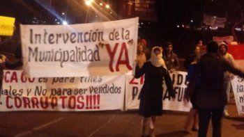 Escraches.  En CDE protestan contra el clan Zacarías Irún.