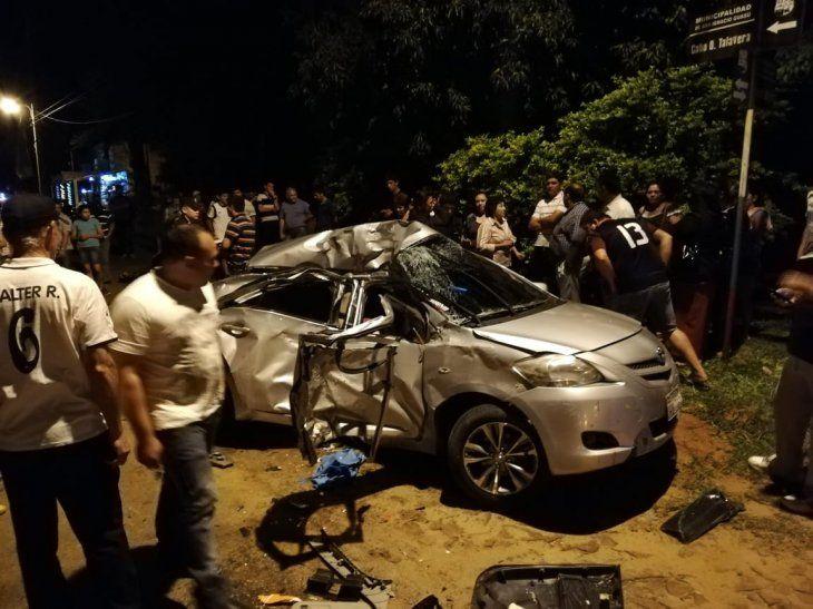 Un accidente de tránsito en la ciudad de San Ignacio