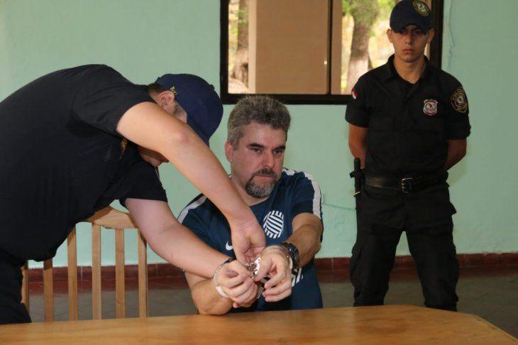 Marcelo Piloto estuvo recluido en la Agrupación Especializada.