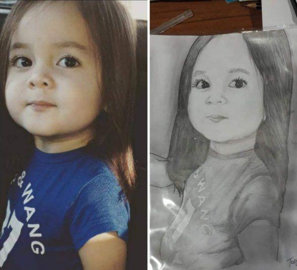 El retrato de una niña, obra de Tobías Céspedes.