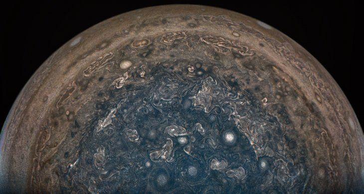 Así se ve Júpiter desde la nave Juno