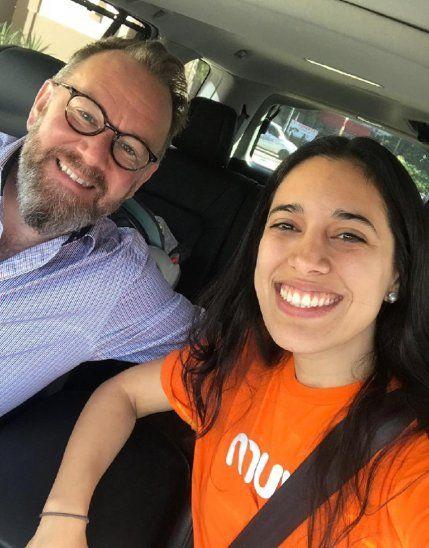 Fundadora. Ximena Duré transportó a Matthew Hedges.
