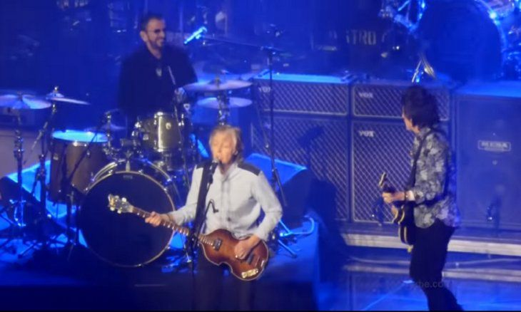 Paul McCartney rockeó junto a Ringo Starr y Ron Wood