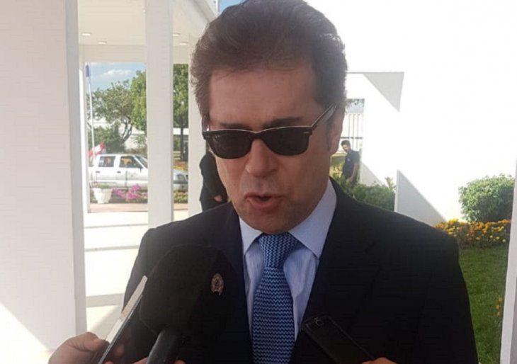 El canciller nacional Luis Alberto Castiglioni.