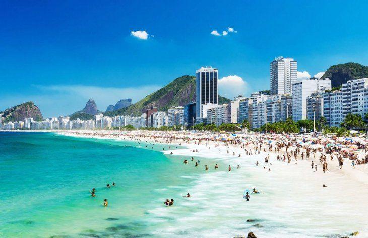 Río de Janeiro. Las playas cariocas son  uno de los destinos favoritos de los paraguayos.