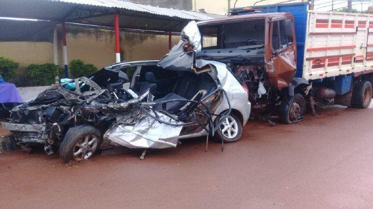 El accidente en San José de los Arroyos se produjo a raíz de un desperfecto mecánico.