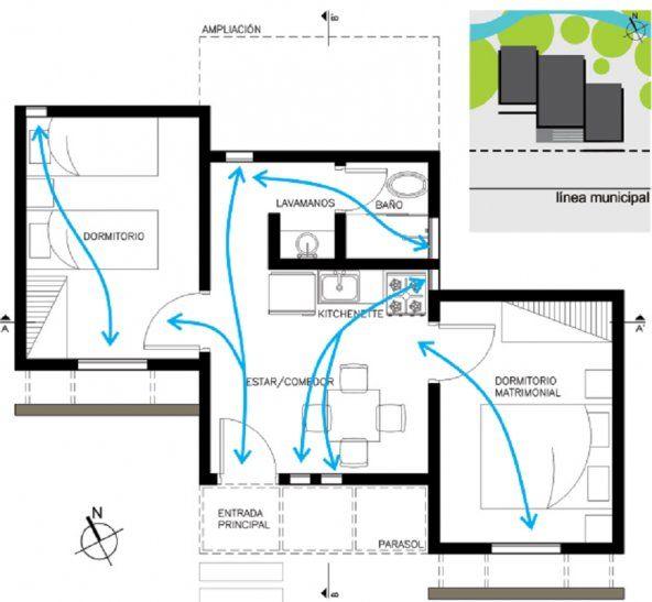 El diseño con tres bloques y una fachada minimista busca dignificar a los beneficiarios del proyecto social.