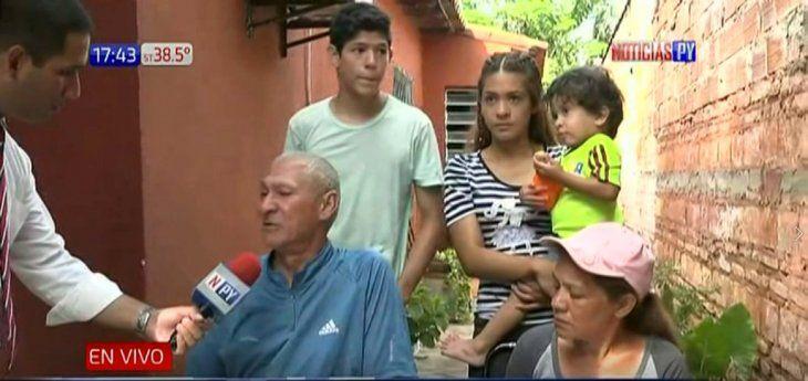 El paraguayo Ricardo Velázquez y su familia pidieron ayuda a la ciudadanía para comenzar de cero.