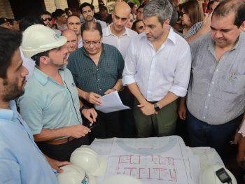El presidente Mario Abdo Benítez participó de un acto del Ministerio de Salud en Concepción.
