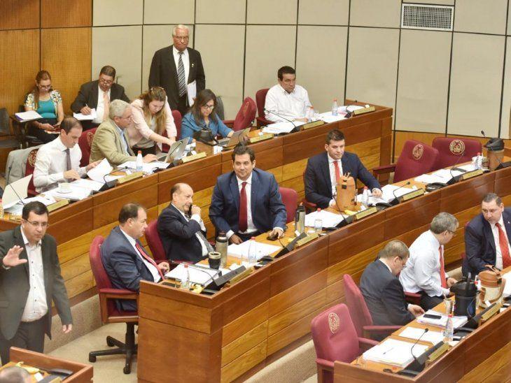 Senado. Miembros de la Cámara Alta están actualmente de receso que termina en marzo.
