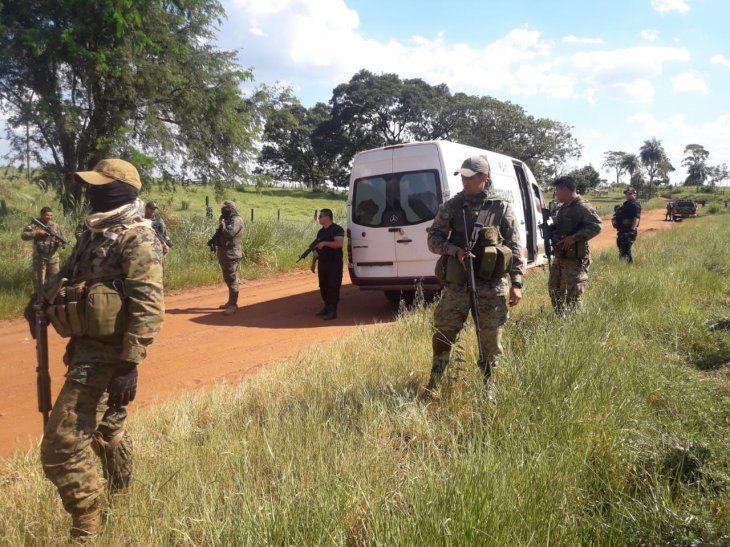 Varios uniformados participaron de la reconstrucción de los hechos de aquel fatal enfrentamiento.
