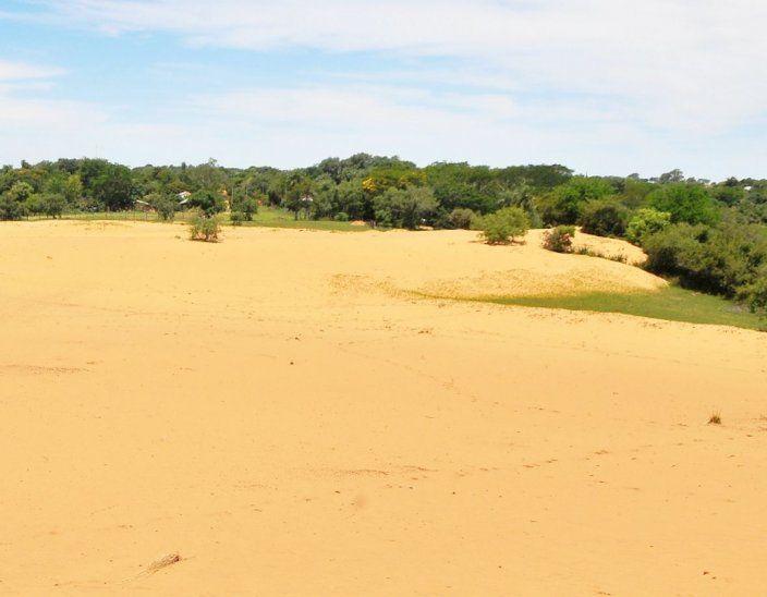 De arena. Las dunas también forman parte del paisaje.