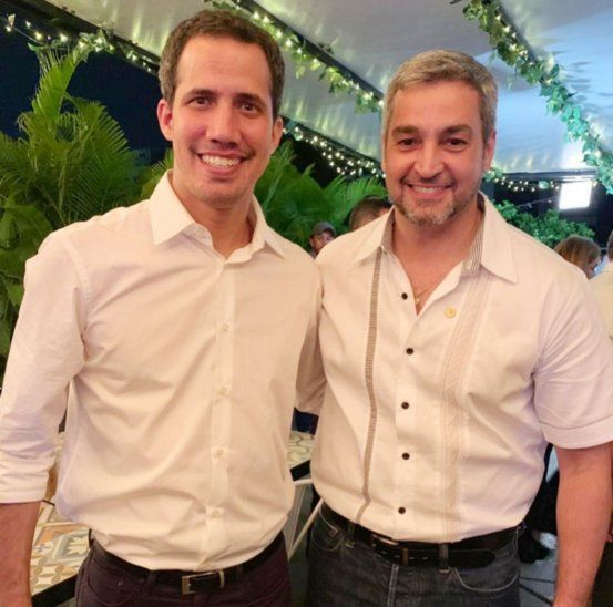 Aliados. Abdo Benítez y Guaidó se encontraron en Cúcuta