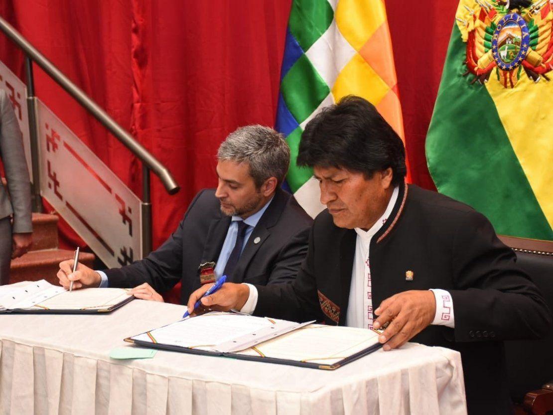 Resultado de imagen para Evo Morales y Mario Abdo Benítez,