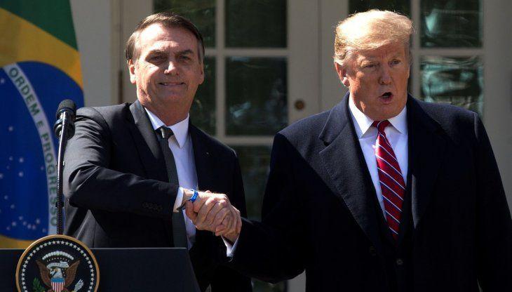 Aliados. Jair Bolsonaro y Donald Trump sellaron la alianza neoconservadora que ambos impulsan en sus países.
