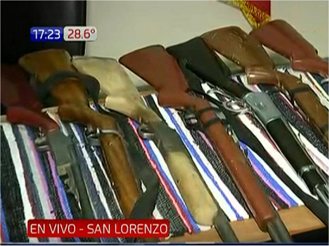Incautan escopetas y rifles de una vivienda en San Lorenzo