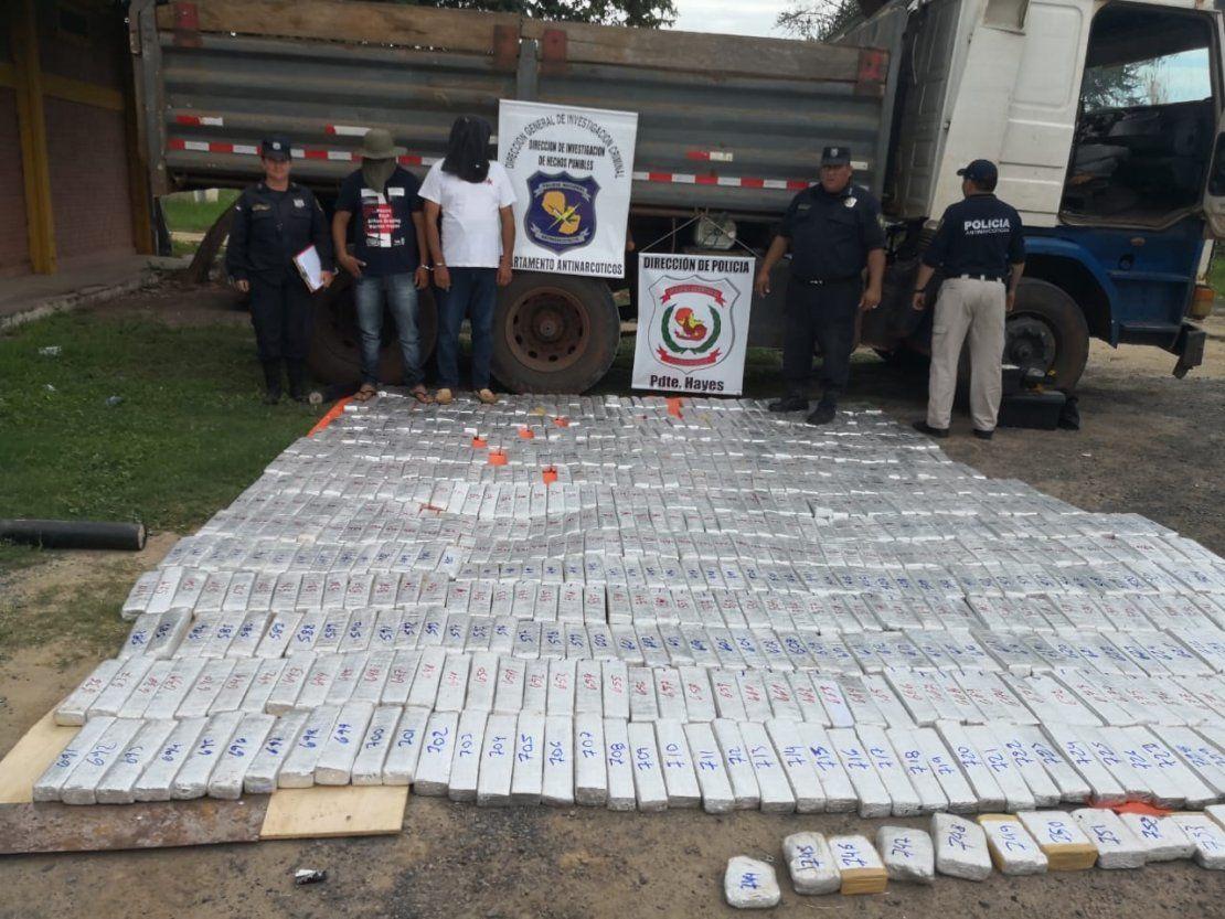 Presidente Hayes: Aprehenden a dos hombres con 572 kilos de marihuana