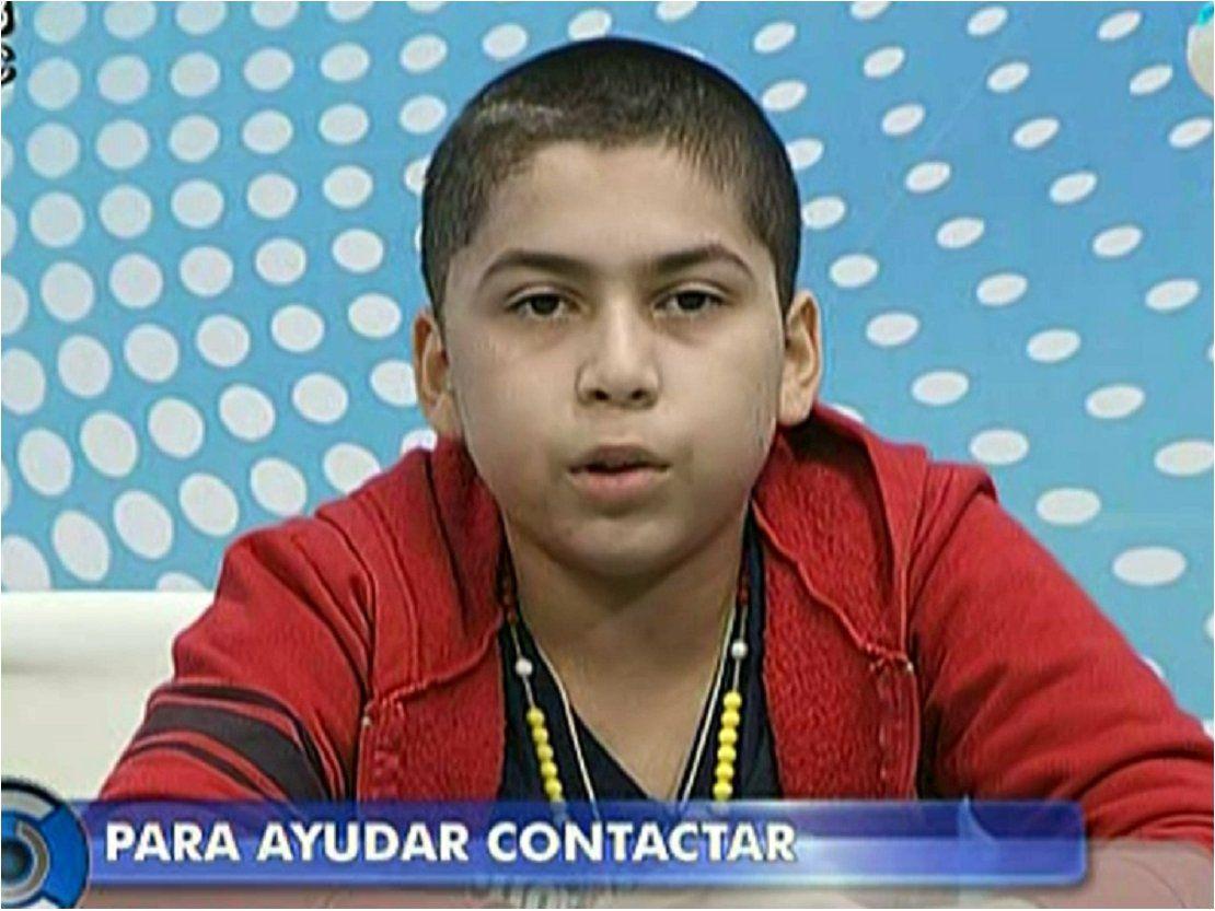 Niño de 13 años pide ayuda solidaria para costear su tratamiento médico