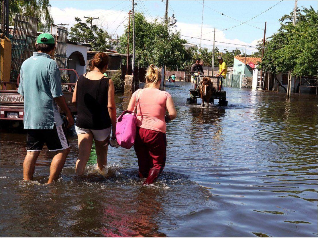 Inundaciones: Bañadenses harán corte de ruta para exigir solución definitiva