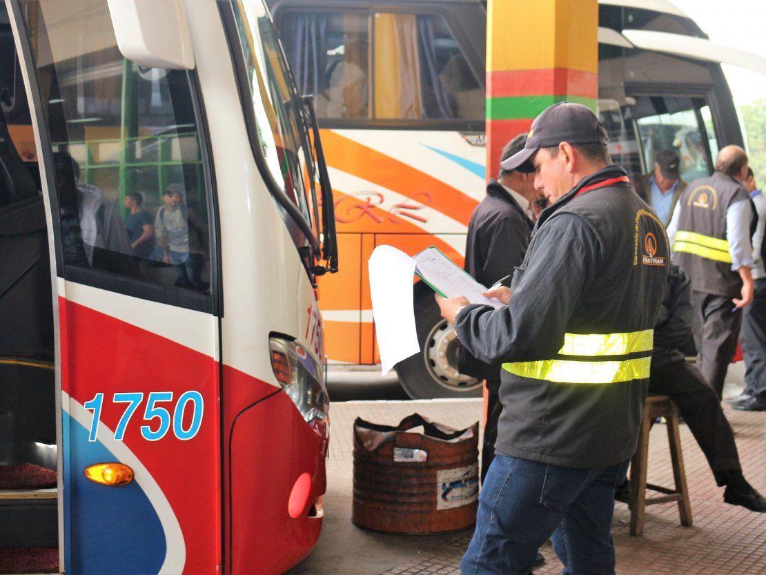 Se liberará horario de buses desde el Martes Santo