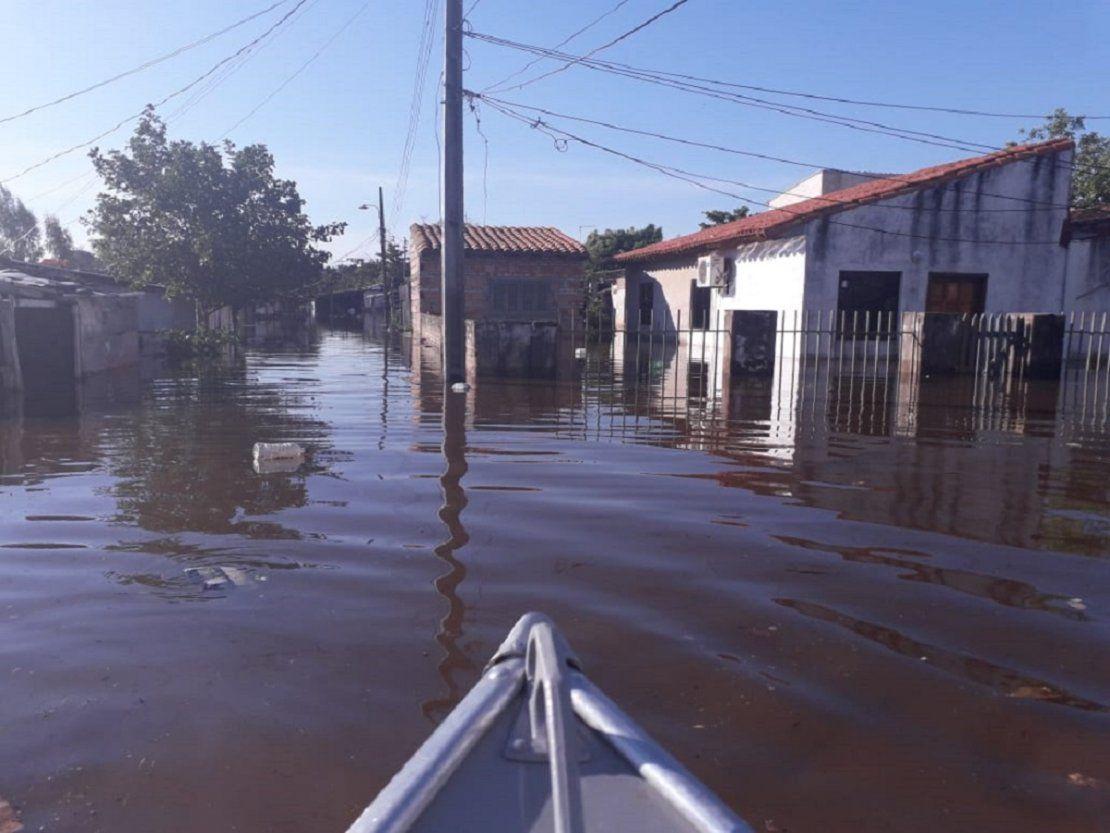 Angustia, drama y resignación de pobladores por inundación en Sajonia