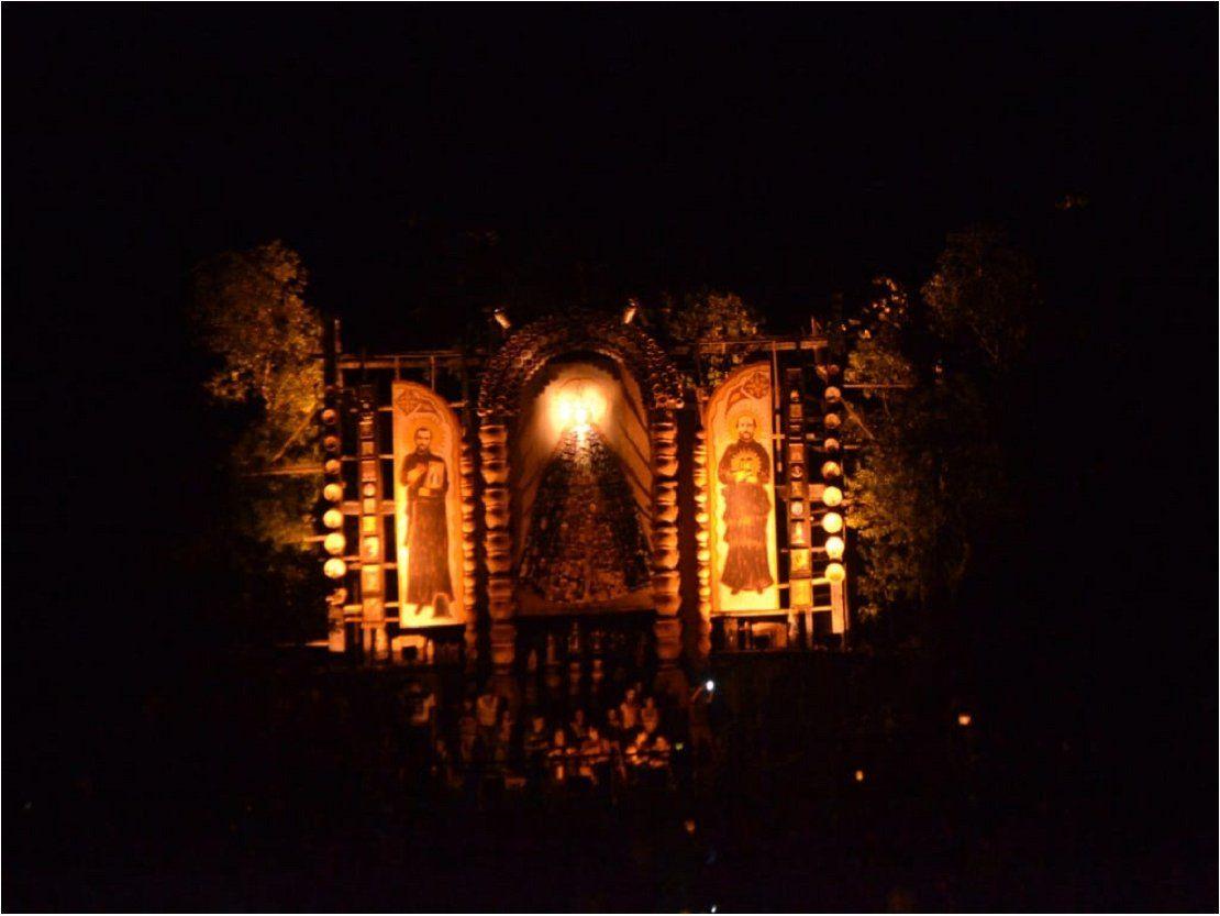Exhiben retablo de santos en Tañarandy