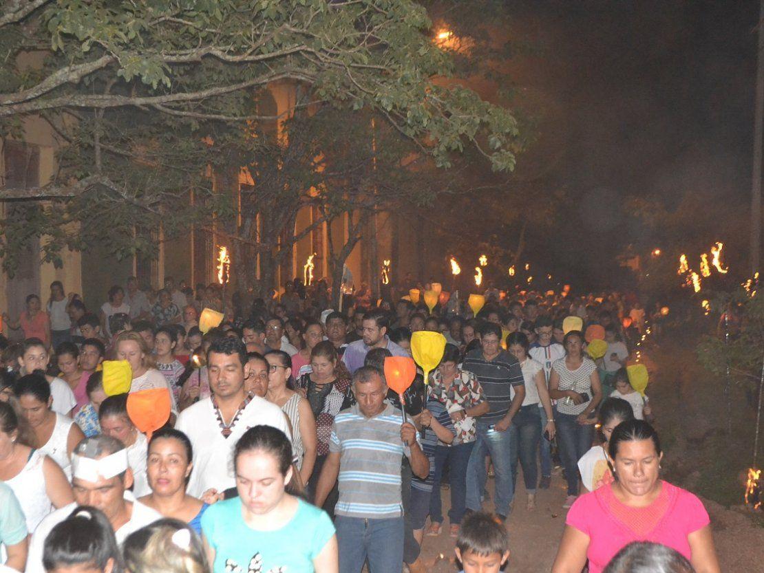 Camino de las luces congregó a unos 10.000 feligreses en Concepción