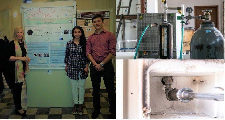 Para la investigación, Shirley Duarte y Alex Dullak fabricaron su propio reactor.