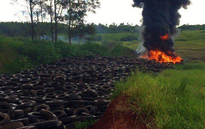 La reutilización de los neumáticos contribuye con el medioambiente.