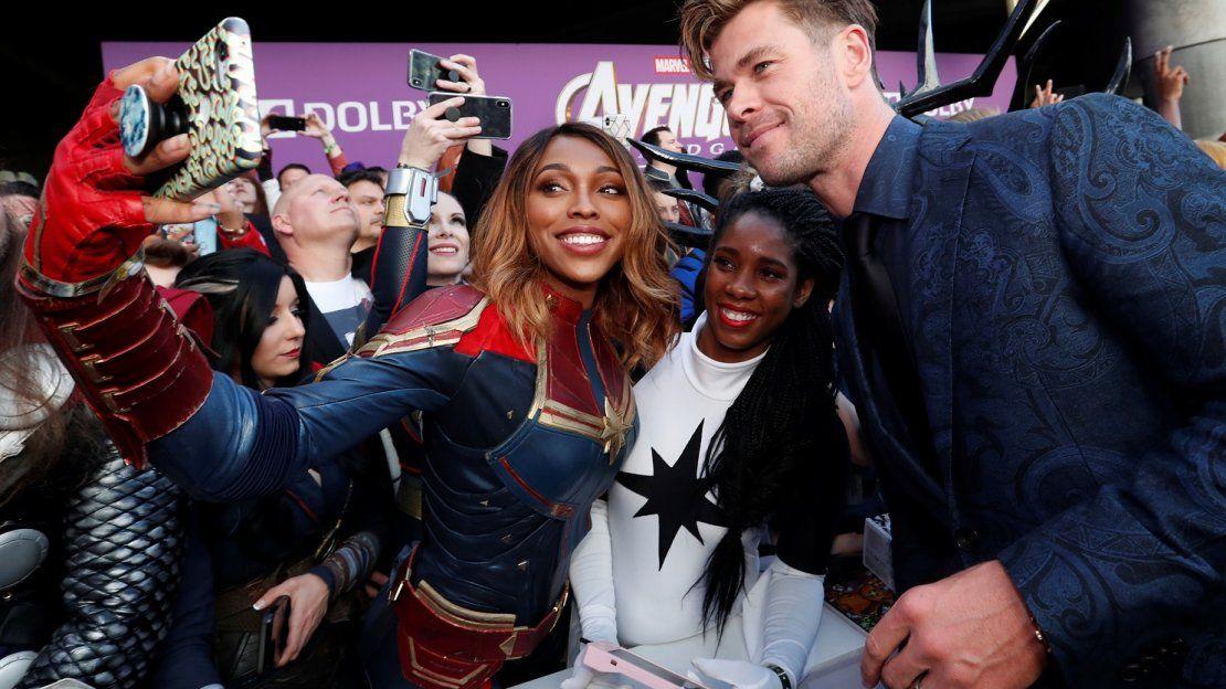 Alfombra roja de la premiere mundial de Avengers: Endgame