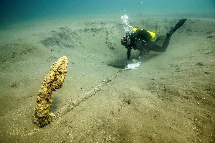 Hallan histórica ancla del siglo XV en aguas de Veracruz — Fotos