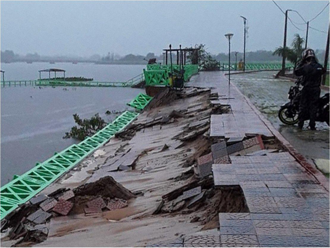 Resultado de imagen para temporal en pilar paraguay