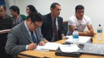 Juicio. El suboficial Jorge Ramírez (der.) durante el juicio.