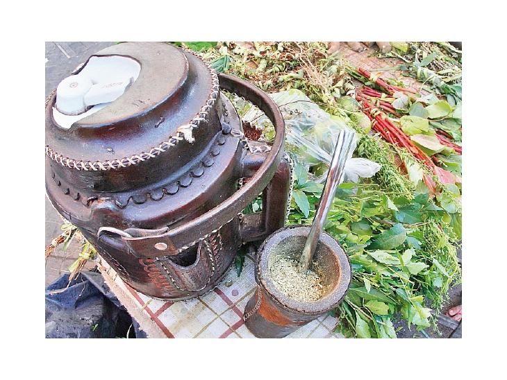<p>Tradición. La práctica ancestral del consumo compartido del tereré en la cultura del pohã ñana se da en todo el país.</p>