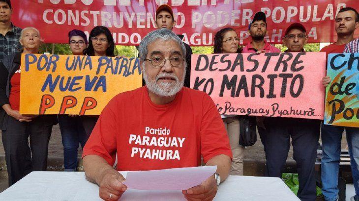 El Partido Paraguay Pyahurã solicitó la renuncia del presidente de la República