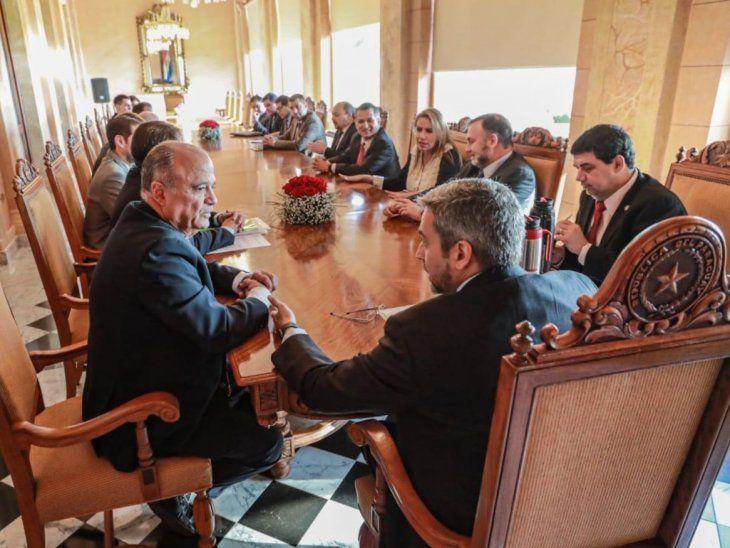 Medidas económicas. Volpe y otros empresarios se reunieron con Marito  en Palacio.
