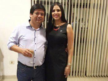 Pareja. El diputado Rojas y su esposa, dueña de Construsur.