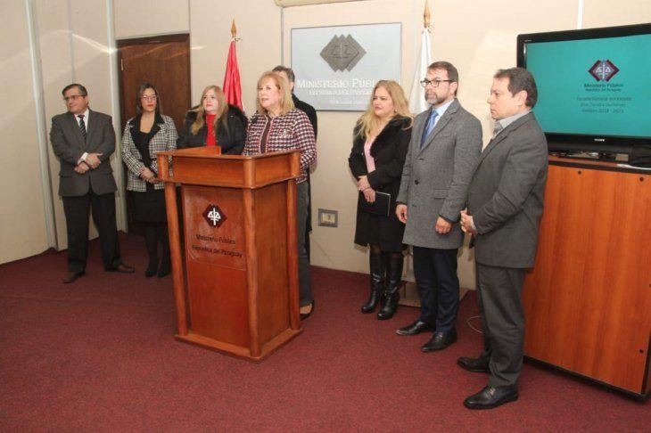 Los fiscales brindaron una conferencia de prensa este viernes en la Fiscalía.