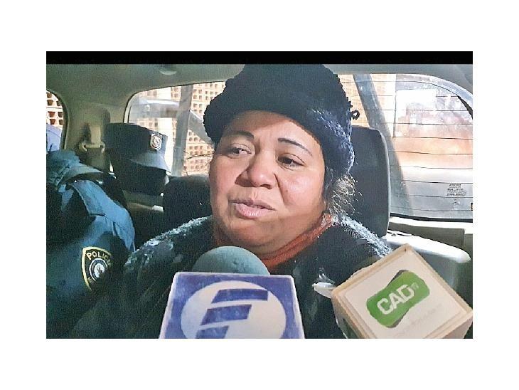 Imputada. Plácida Alfonzo fue acusada  por violación de la patria potestad